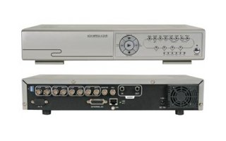 Grabador digital multiplexor Quad MPEG-4/MJPEG canales + Ethernet