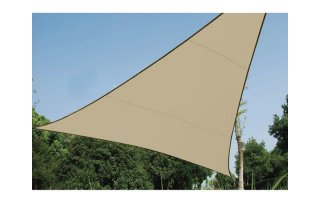 Vela de sombra permeable - Triangular - 3.6 x 3.6m x 3.6m - color: Beige