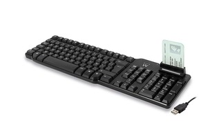 EWENT - TECLADO MULTIMEDIA - USB - LECTOR DE SMART CARD E eID - LAYOUT BELGA