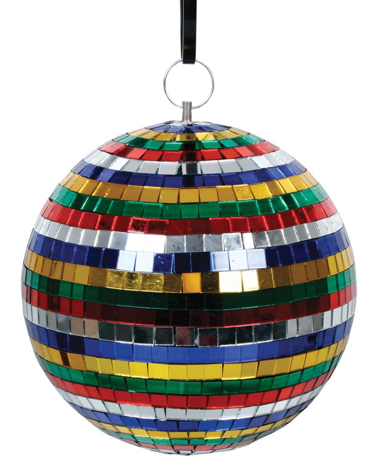 Bola de espejos de colores 20 cm djmania - Bola de discoteca de colores ...