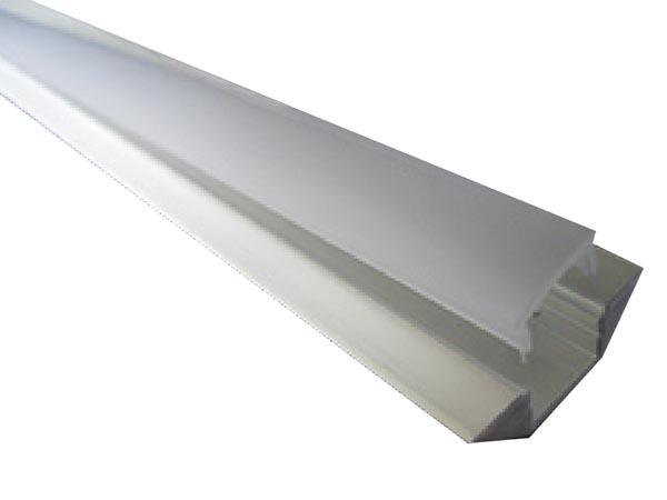 Perfil de aluminio para cintas con leds tipo ngulo 2m - Tipos de perfiles de aluminio ...