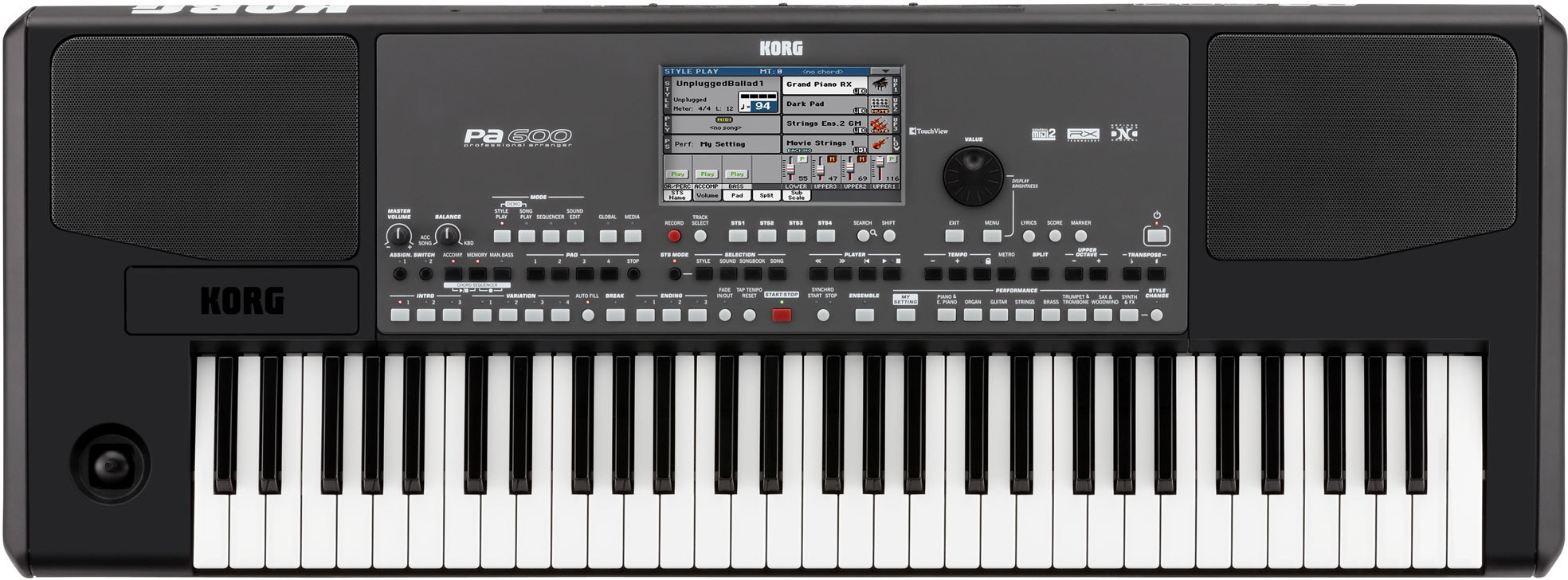 Korg pa600 djmania for Korg or yamaha digital piano
