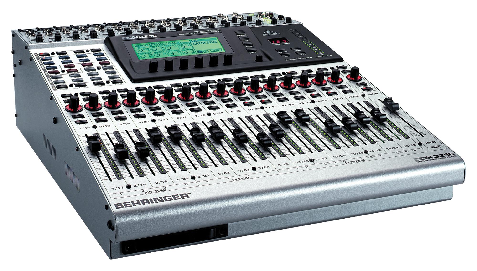 Mesa de mezclas behringer ddx3216 djmania for Mesas behringer