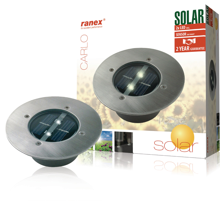 Foco led solar redondo para el suelo djmania - Focos led solares ...