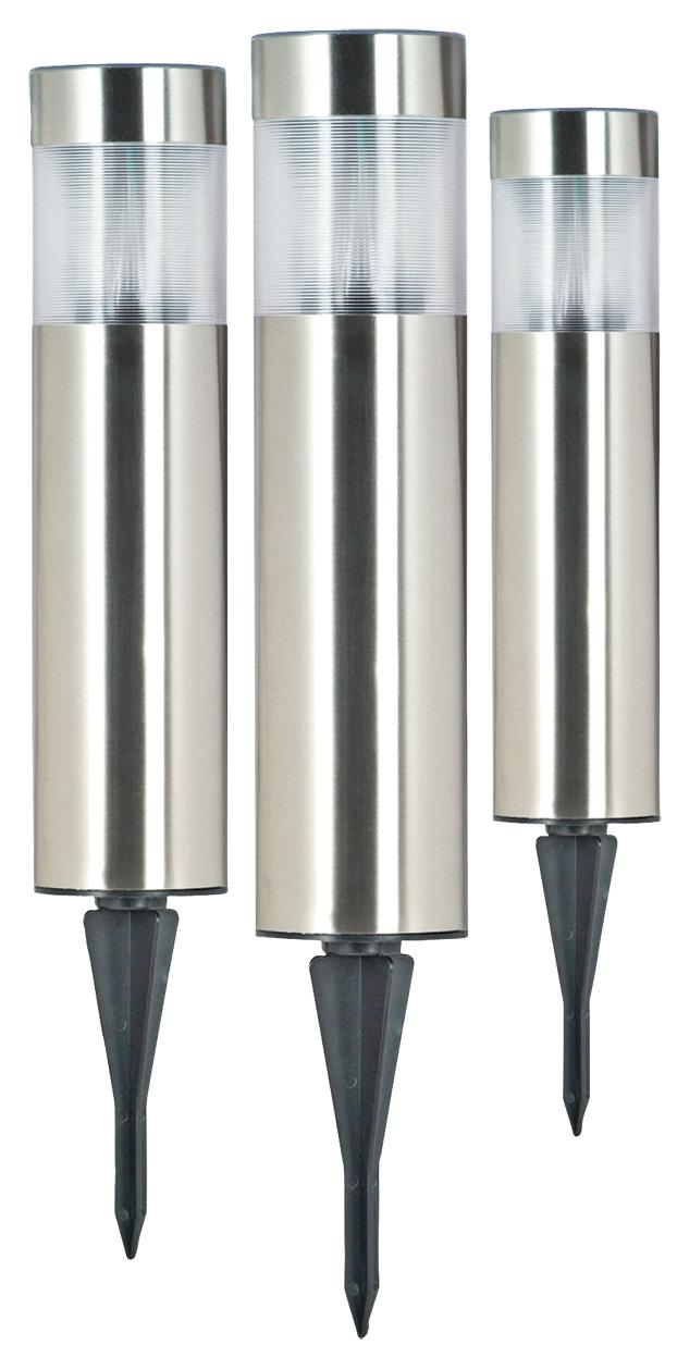 Set de 3 luces led solares ip44 con pincho ranex djmania - Luces navidenas solares ...