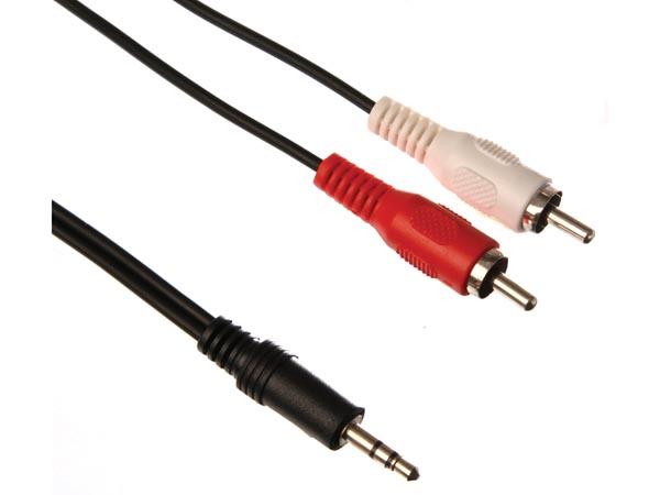 Conector Est 201 Reo Macho De 3 5mm A 2 X Conector Audio Rca
