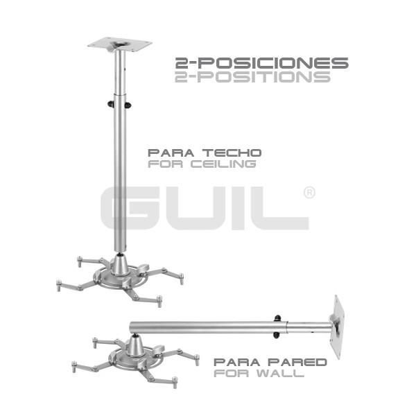 Guil ptr 15 soporte telesc pico de techo y pared para video proyectores djmania - Soporte para proyectores techo ...