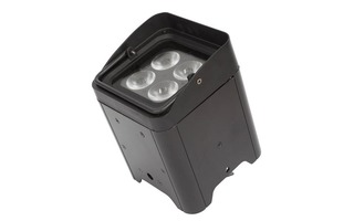 FOCO LED DE SUELO - FUNCIONA CON ADAPTADOR DE RED O BATERÍA RECARGABLE - 4 x LED RGBWA-UV DE 12