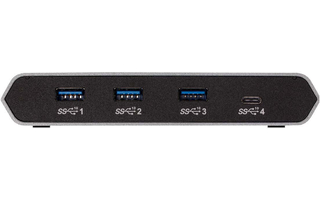 Hub 4-Port USB de escritorio Aluminum/Negro - Aten US3342-AT
