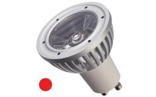 Bombilla LED 3W - color rojo - 230V - GU10