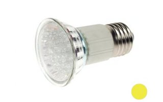 BOMBILLA LED E27 - COLOR AMARILLO - 240VAC - 18 LEDs