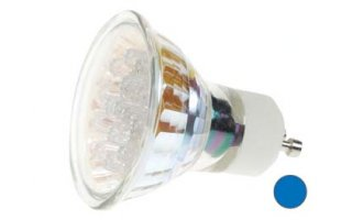 Bombilla LED GU10, 240V color AZUL