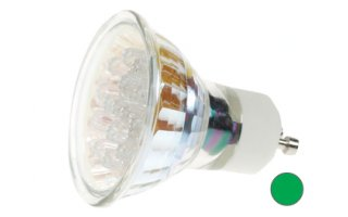 Bombilla LED GU10, 240V color VERDE