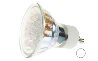 Bombilla LED GU10, 240V color BLANCA FRIA