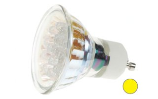 Bombilla LED GU10, 240V color AMARILLO