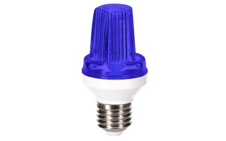 Mini lámpara LED estroboscopica - Casquillo E27 - 3 W - Color Azul