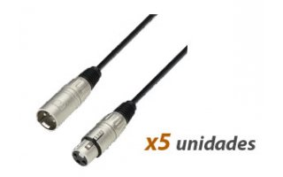 Pack : (5x) Cable xlr 3m