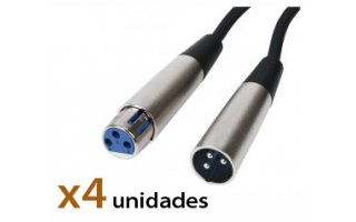Pack: Cable Xlr 9m (x4)