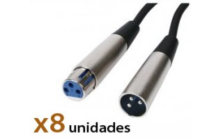 Pack: Cable Xlr 9m (x8)