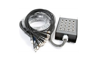 PD Connex Stage Snake 12-in 4-out XLR 15 metres