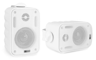 "Power Dynamics BGO30 Pareja altavoces exterior/interior 3"" 60W Blanco"