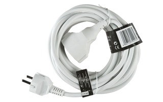 Power Extension Cable 3.00 m H05VV-F 3G1.5 IP20 White - Brennenstuhl 1164020