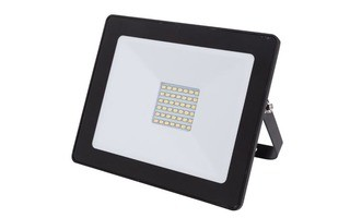 PROYECTOR LED PARA EXTERIOR - 30 W - BLANCO NEUTRO - COLOR NEGRO
