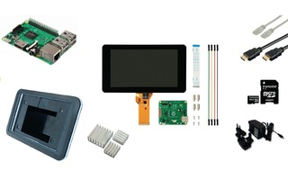 Raspberry Pi LCD Starter Kit + Wi-Fi + Raspbian Software - Raspberry Pi RP3KIT2