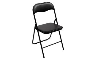 Silla plegable en color negro - FP168B