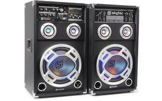 "SkyTec KA-10 Set de Altavoces Activos 10"" USB/RGB LED 800W"
