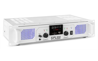 SkyTec SPL 500MP3 Amplifier blue LED + EQ White