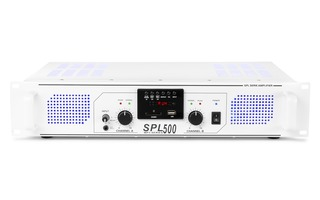 Imagenes de SkyTec SPL 500MP3 Amplifier blue LED + EQ White
