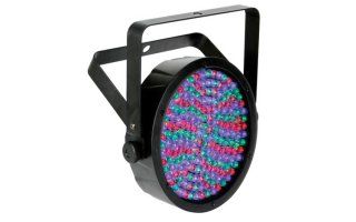 Foco PAR64 LED inteligente - ABS - negro - soporte doble - 180 x LED 10mm