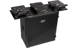 UDG Ultimate Fold Out DJ Table Black Plus - Ruedas