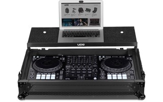 UDG U91055BL - UDG ULTIMATE FLIGHT CASE PIONEER DDJ-1000 BLACK PLUS (LAPTOP SHELF + WHEELS)