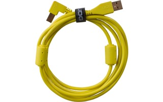 UDG Ultimate Cable USB 2.0 A-B - Amarillo - Acodado 2 metros