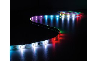 CINTA DE LEDs DE DATOS FLEXIBLE - RGB - 150 LEDs - 5 m - 12 V
