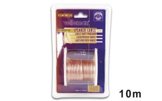 CABLE ALTAVOZ - TRANSPARENTE - 2 x 1.00mm² - 10m
