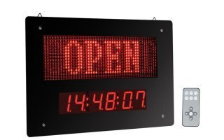 "PANEL LED ""OPEN / CLOSED"" CON RELOJ"