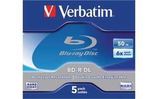 Verbatim 43748 BD-R DL 50GB 6x 5 Pack Jewel Case