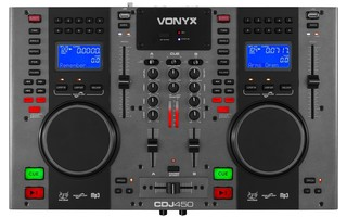 Vonyx CDJ450 Doble reproductor mezclador sobremesa CD/MP3/USB con Bluetooth