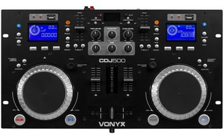 Vonyx CDJ500 Doble reproductor con amplificador CD/MP3/USB/Bluetooth