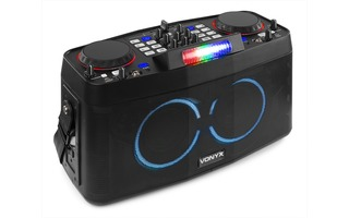 Vonyx CDP800 Portable DJ Station with Dual Bluetooth