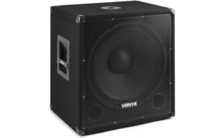 "Vonyx SMWBA18 MP3 Subwoofer Bi-AMP 18"" / 1000W y Bluetooth"