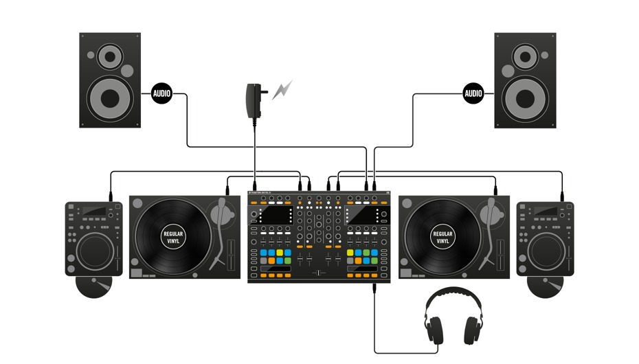 how to connect floor monitors to mixer