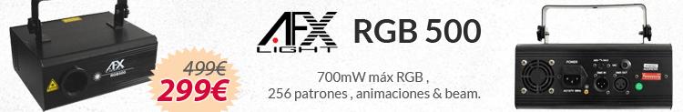 afx light 500 rgb laser