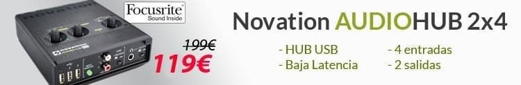 Novation AudioHub 2x4 - Interfaz Audio USB + HUB