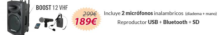 boost 12 vhf oferta ibiza sound