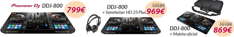 Pioneer ddj-800 oferta set pack