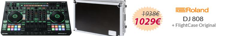 roland DJ-808 flightcase mejor precio oferta